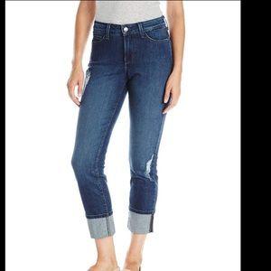 NYDJ Lorena Boyfriend Cuffed Cropped Jeans